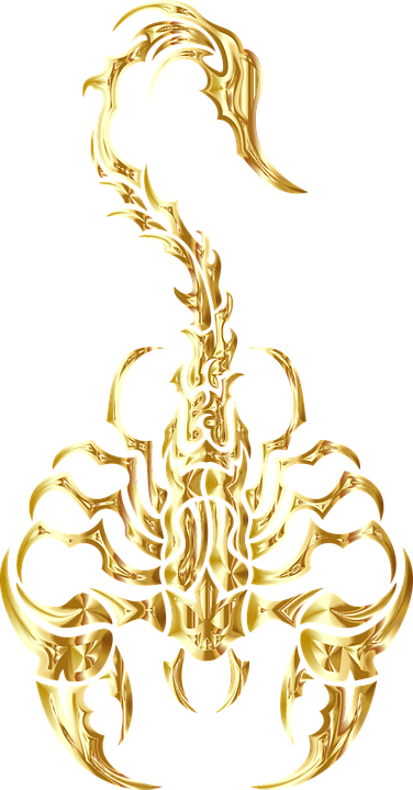 2b9adb2513bfd Scorpion Tribal Gold - Free vector graphic on Pixabay