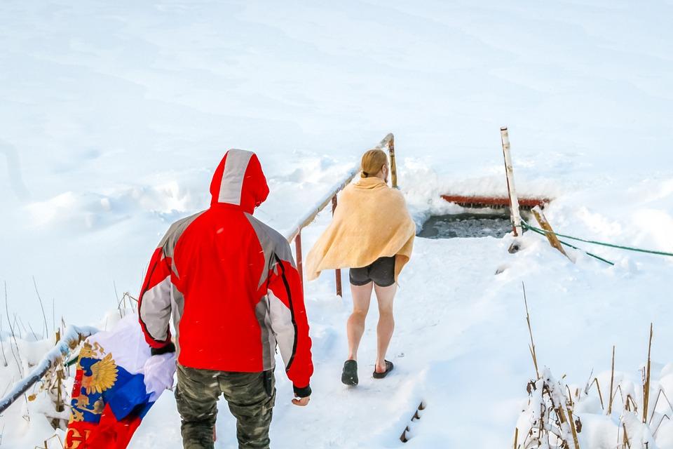 Hvalrossen, Vinterbadning, Hærdning, Rusland, Sne, Is