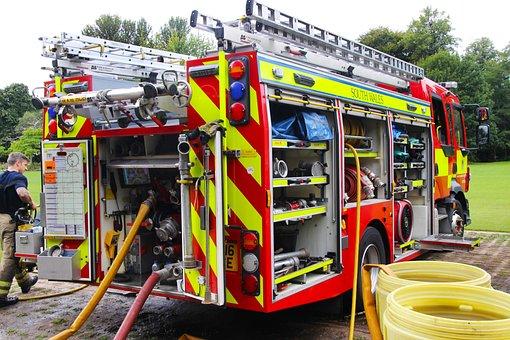 Fire Engine, Emergency, Fire, Truck