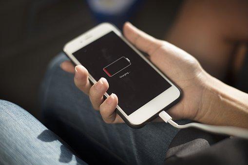 技術, デジタル, オンライン, 手, 通信, 社会, バッテリ, 携帯電話
