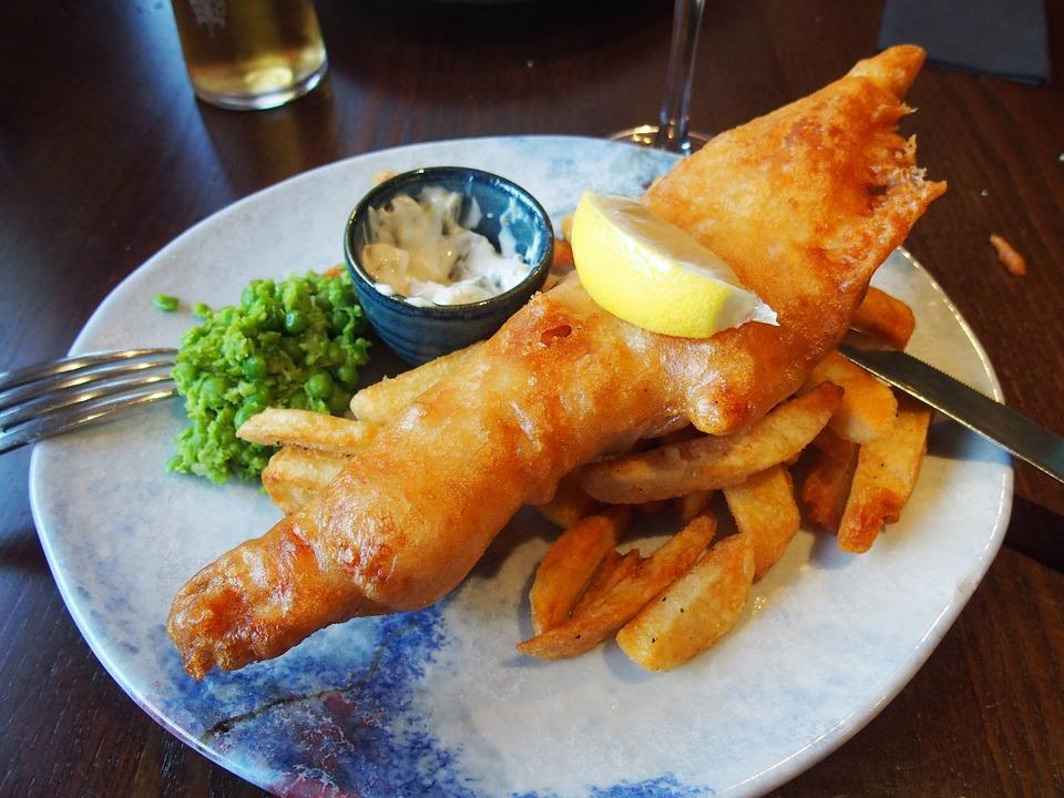 Fish And Chips, Шотландия, Великобритания, Плоский