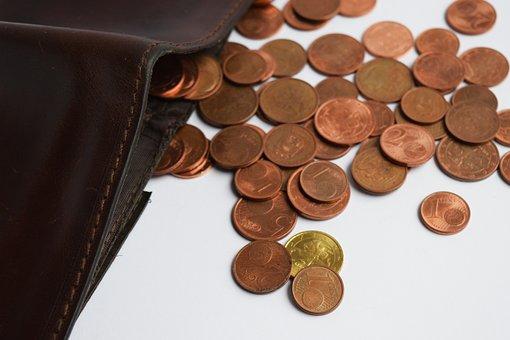 Cartera, Monedas, Del Euro, Dinero