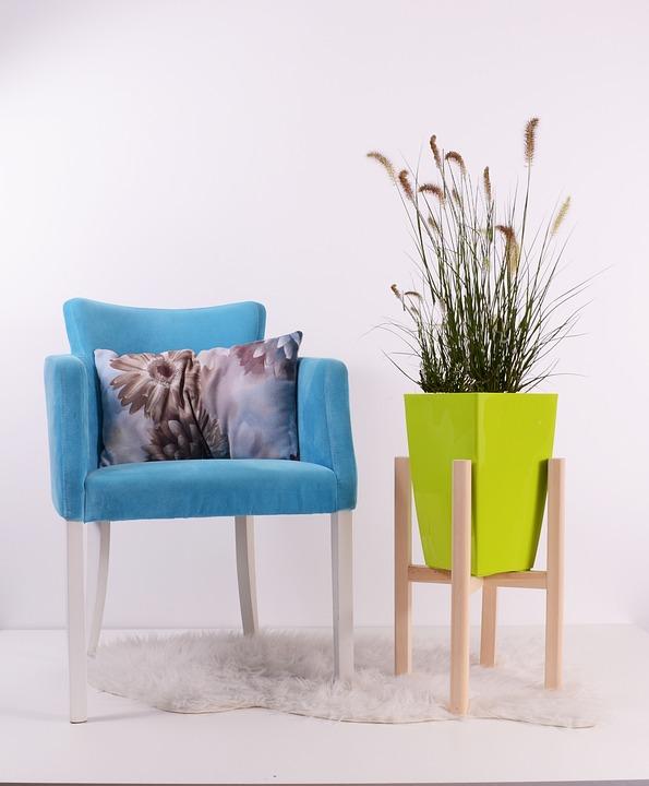 Flowerpots, Green, Grow, Chair, Pot, Pottery