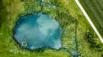 jezioro, widok z lotu ptaka, charakter