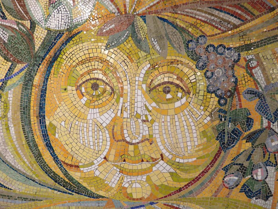 Sun Wall Art Mosaic Stones Tiles · Free photo on Pixabay