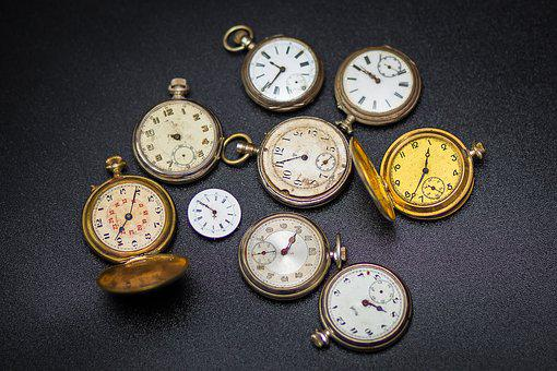 Clock, Pocket Watch, Time Of, Movement