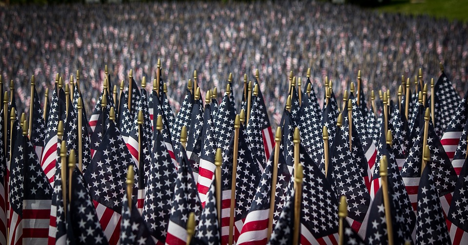 American Flags, Memorial Day, Memorial, Flag, Usa, Red