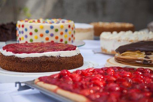 ケーキ, ケーキ ビュッフェ, パイ, デザート, ビュッフェ