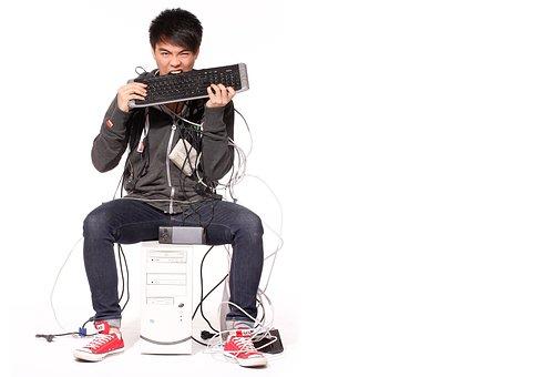 Homem, Pc, Computador, Internet, Rede