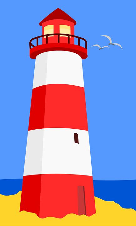 lighthouse sea beach free vector graphic on pixabay rh pixabay com lighthouse clip art free printable lighthouse clip art drawings