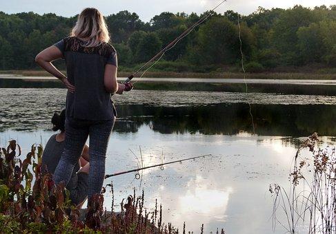 Woman, Fishing, Fisherwoman, Fisherman