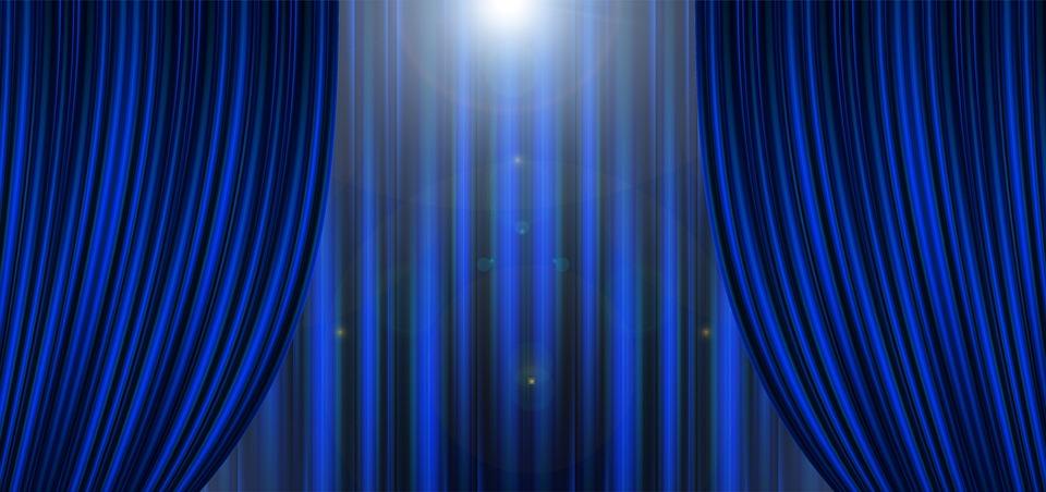 Theater kino vorhang kostenloses foto auf pixabay for Vorhange kinderzimmer blau