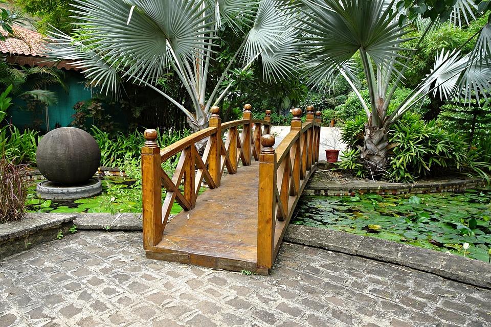 Brücke Holzbrücke Garten Brücke Kostenloses Foto Auf Pixabay