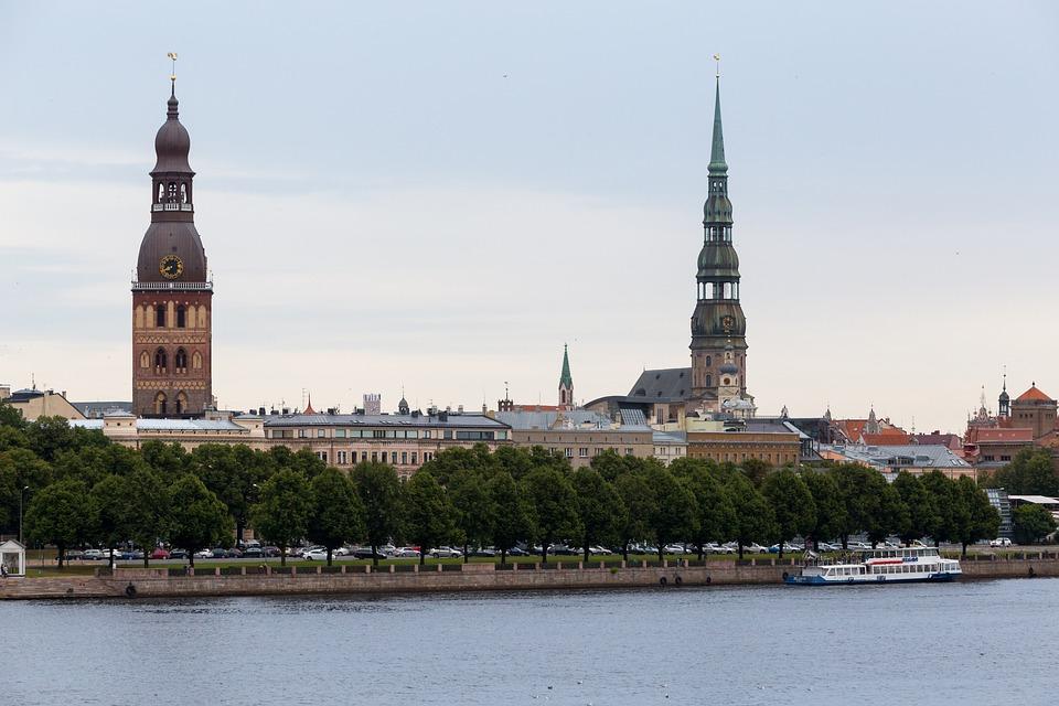 Riga, Quay, Latvia, Daugava River, Tower, Ship