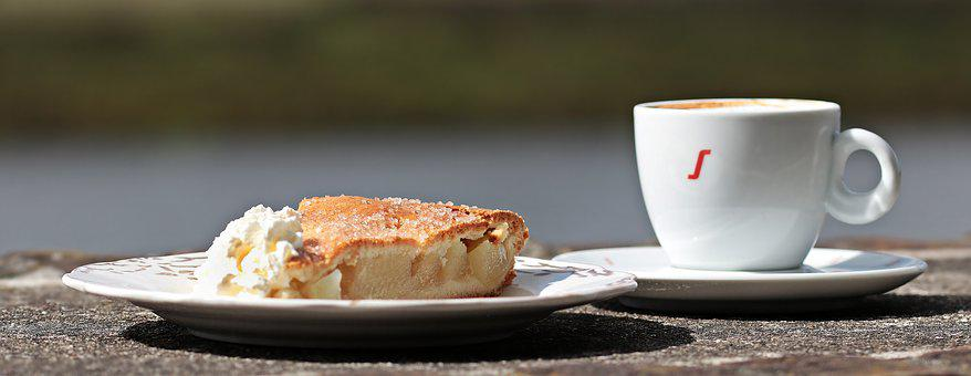 Coffee, Cake, Apple Pie, Coffee And Cake