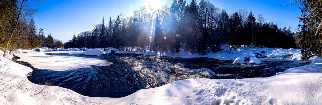 Řeka, Voda, V Zimě, Whirlpool