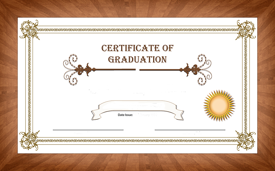 Certificate Graduation Wood Free Image On Pixabay