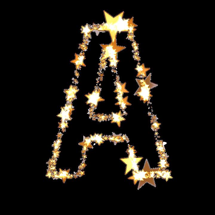 letter a abc star christmas