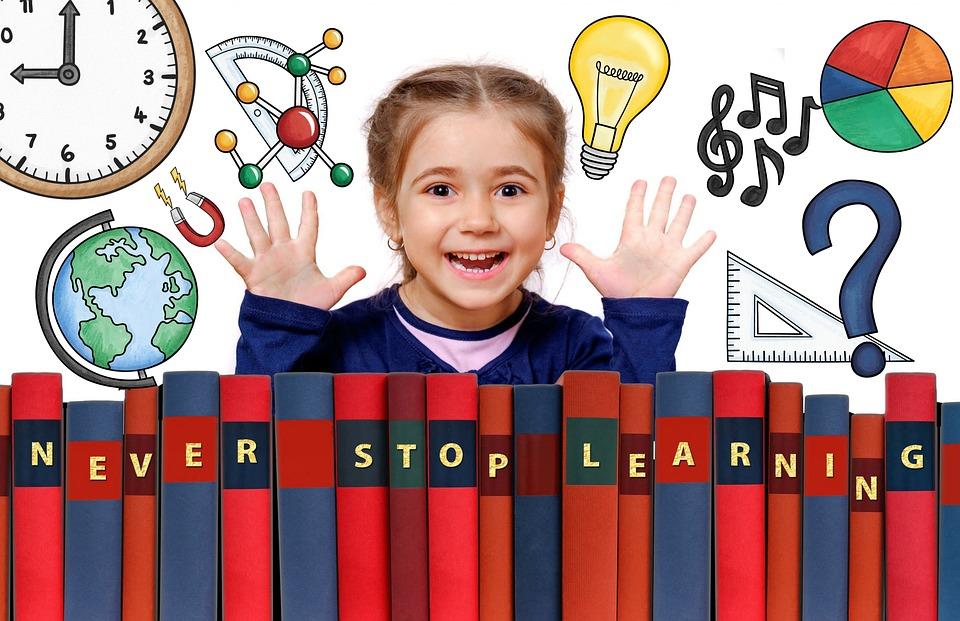 Школы, Обучение, Графический, Дизайн, Девочка, Ребенок