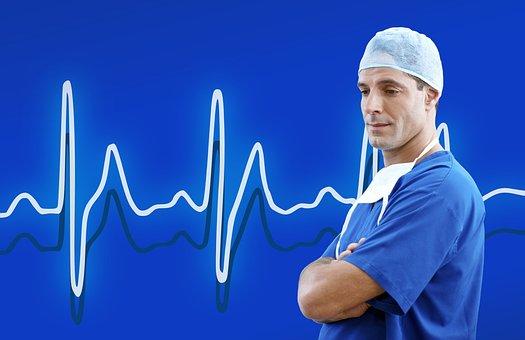 Médico, Médica, Azul