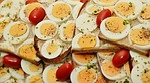 egg sandwich, egg, bread