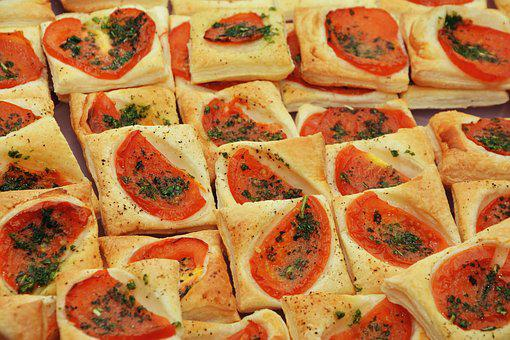Partysnack, Blätterteig, Tomate