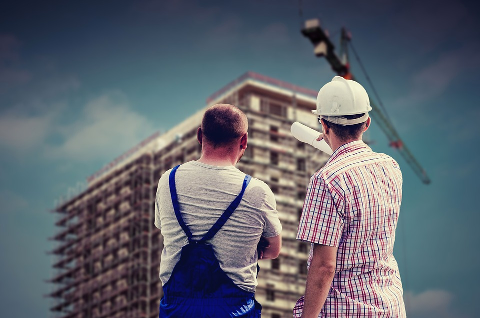 Edifício, Profissional, Empregado, Construtor
