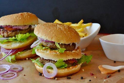 Burger, Hamburger, Roll, Barbecue