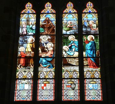 Stained Glass Windows Church Cathedral