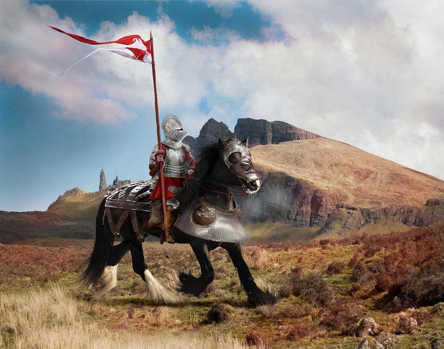 ファンタジー, ナイト, 戦い, 戦士, 鎧, 武器, シンボル, 王, 古い, 王国, 歴史, 文字