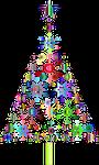 snowflakes, christmas tree, jesus