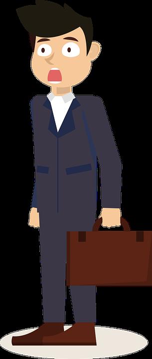 business man clip art surprised free image on pixabay