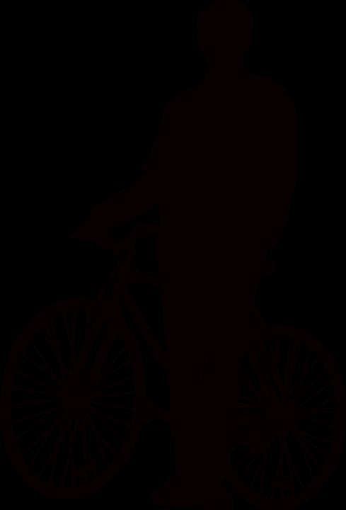 Uomo Bicicletta Stare In Piedi Grafica Vettoriale Gratuita Su Pixabay