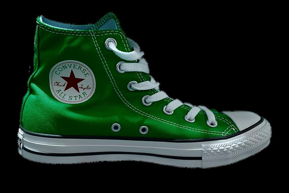 Zapatillas, Chuck, Sneaker, Zapato, Verde, Moda