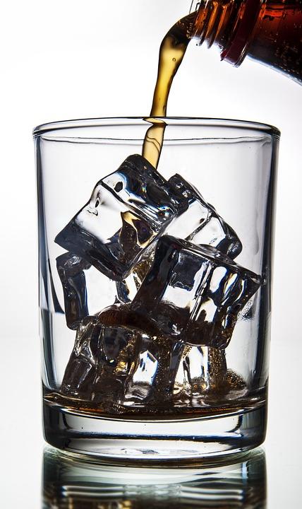 Cubos De Gelo, Refrescante, Coca Cola, Com Sede, Sede