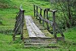 mostek, drewniany mostek, przejście