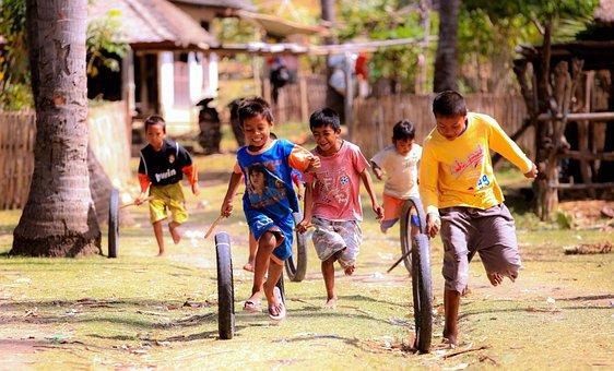 Niño, Jugando, La Infancia, Feliz