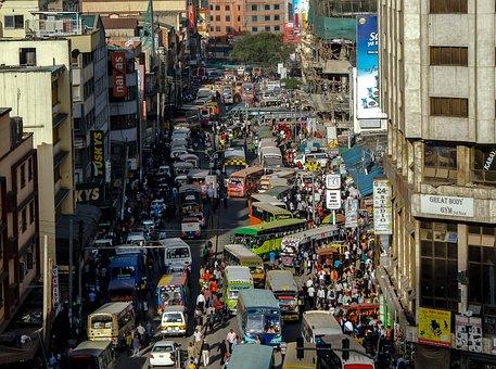 ナイロビ, ケニア, 通り, Matatu, 都市, 市, アフリカ, ビジネス