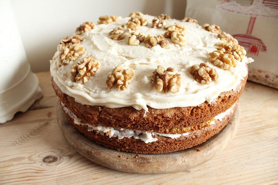 Taart, Walnoten, Worteltaart, Wortel En Walnoot Cake