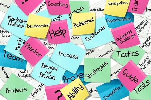 Stickies, Post-It, List, Business