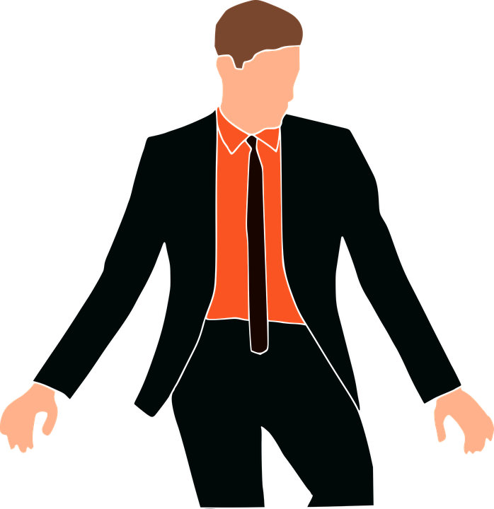 Fashion Man Suit Red , Free vector graphic on Pixabay