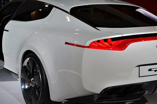 Kia Sports Car, Rear View, Exterior