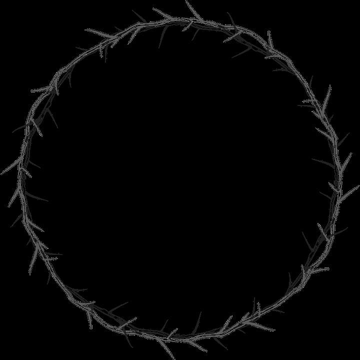 Dornenkrone Kreis Rahmen · Kostenlose Vektorgrafik auf Pixabay