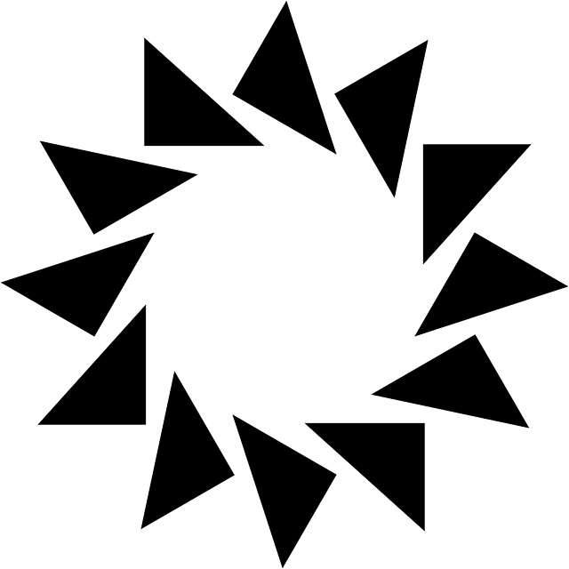 Sun Triangles Frame · Free vector graphic on Pixabay