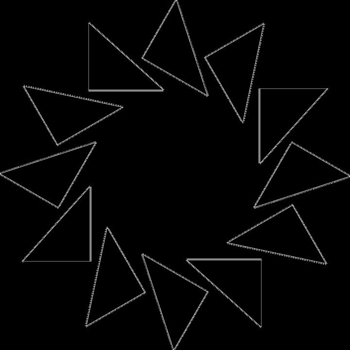 Sol Triángulos Marco · Gráficos vectoriales gratis en Pixabay
