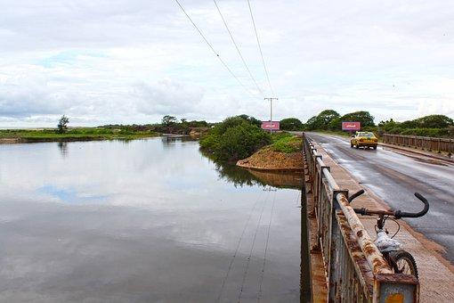 Bridge, Landscape, Africa, River, Scenic