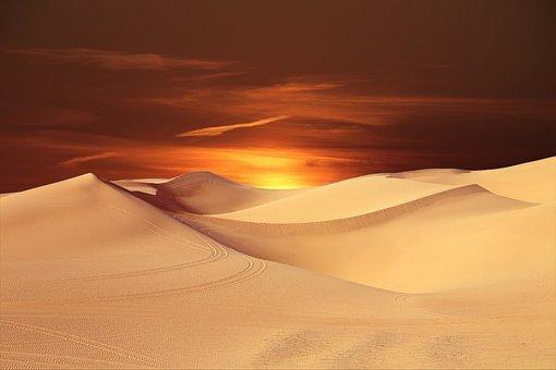 Pustynia, Słońce, Krajobraz