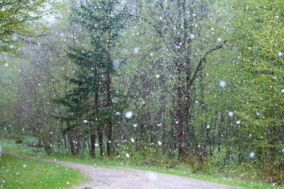 Rain Weather Badly Background Snow