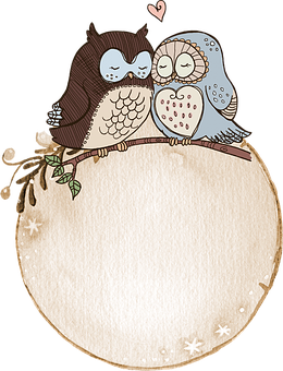 Label, Watercolor, Owl, Cute, Tag