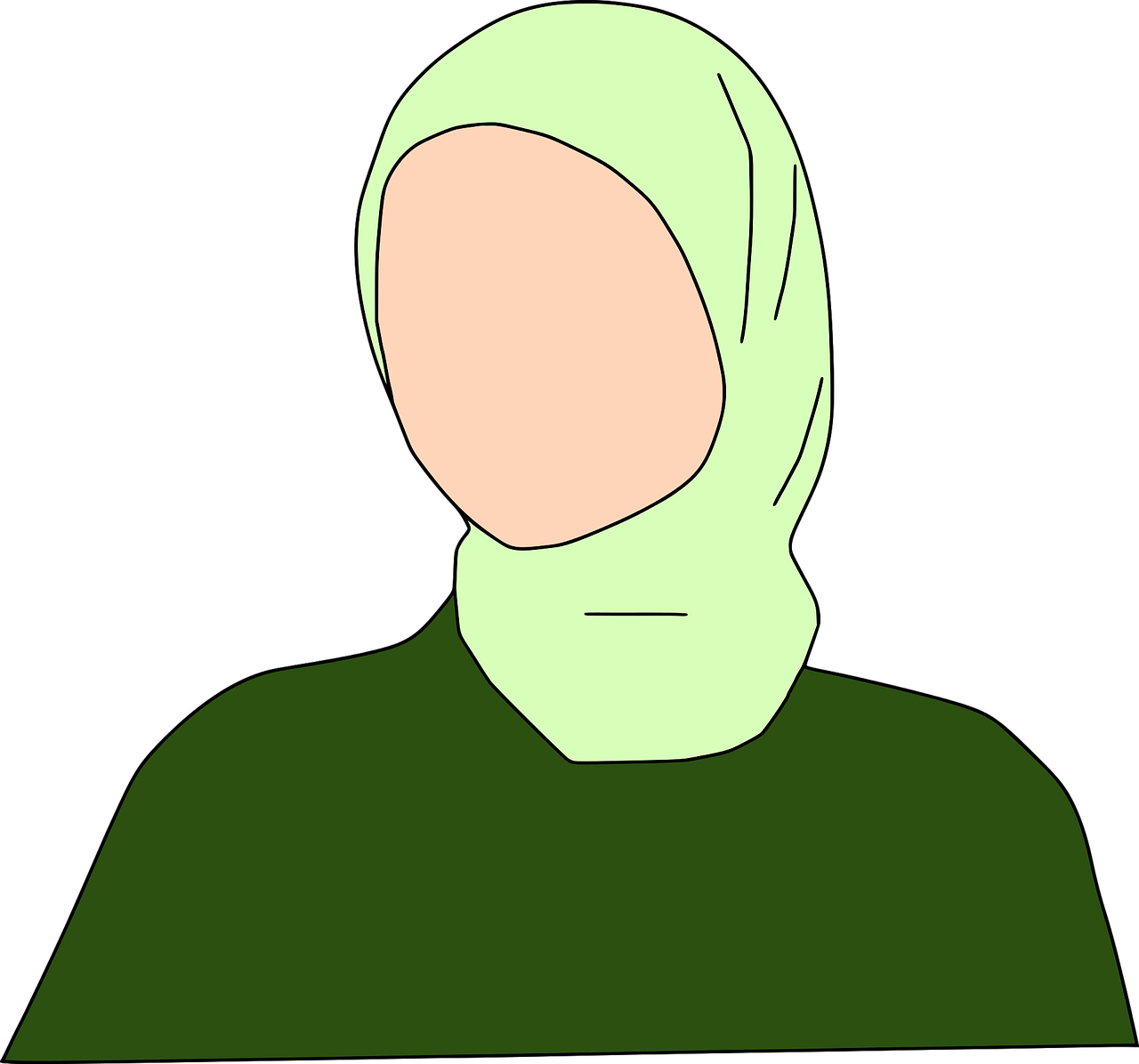 Jilbab Wanita Muslim Gambar Vektor Gratis Di Pixabay